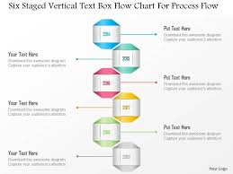 Powerpoint Chart Templates 1214 Six Staged Vertical Text Box Flow Chart For Process