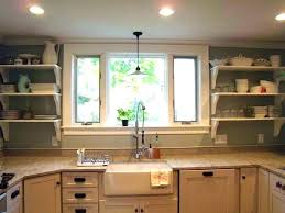 lighting above kitchen sink. Excellent Over Sink Lighting Light Above Kitchen Large Size Of Pendant Height