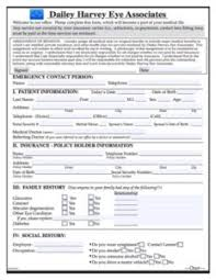 patient information form dailey harvey eye associates patient information form