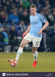 firo: 20.02.2019, Football, UEFA Champions League, Season 2018/2019, Round  of 16, First leg, FC Schalke 04 - Manchester City, Single action, Kevin DE  BRUYNE, Manchester City, Full figure, | usage worldwide Stock Photo - Alamy