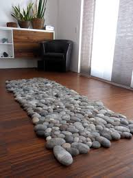 felt carpet supersoft pebbles stone carpet wool from sheep u0026 lama by flussdesign on etsy rug20 rug