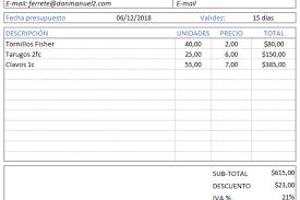 Formato De Cotizacion Para Llenar Planilla De Excel Para Hoja De Presupuesto Planillaexcel Com