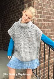 Free Knitted Poncho Patterns Magnificent Design Ideas