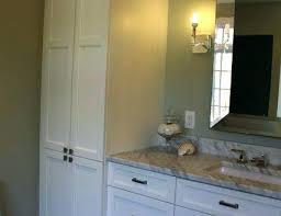 bathroom vanity and linen cabinet. Bathroom Vanity With Linen Cabinet Vanities White And