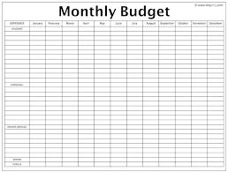 Printable Budget Worksheet Template Barrest Info
