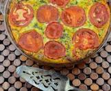 blender quiche   or whatever you have in your kitchen leftover