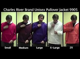 Sizing For Our Charles River Pullover Jacket 9905