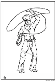 Lego Cowboy Coloring Pages