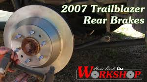 How to replace rear brakes on a 2007 Chevy Trailblazer - YouTube