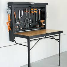 folding workbench. folding workbench - ingenious, space-saving design. ready for use in one