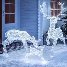 Light Up Led Sparkly Christmas Reindeer Indoor Outdoor