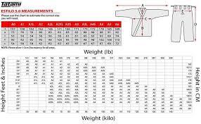 Ronin Gi Size Chart Tatami Size Charts Tatami Fightgear Tatami Gi Size Chart