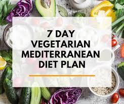 Meditation Diet Chart 7 Day Vegetarian Mediterranean Diet Plan Pdf Shopping