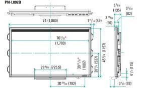 sharp 85 inch tv. download pn-l802b dimensional drawing sharp 85 inch tv