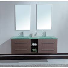 calypso  inch modern double sink bathroom vanity unique grey oak