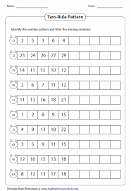 Number Patterns Beauteous Pattern Worksheets