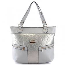 Coach In Printed Signature Large Silver Totes BAB