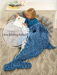 Arm Knitting Patterns Delectable Arm Knitting Pattern Arm Knit Dolphin Sleep Sack Animal Etsy