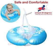 qiaoniuniu baby inflatable swimming ring shoulder strap design underarm kids toddlers infants floats toys for bathtub