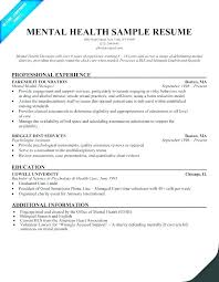 Mental Health Technician Resume Mental Health Technician Resume
