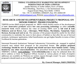 Project Proposals Stunning Indian Botanists TRIFED Invites R D Project Proposals On Minor