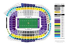 New Minnesota Vikings Stadium Seating Chart Us Bank Stadium Minnesota Vikings Football Stadium
