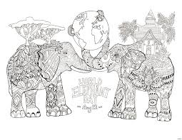 Fresh Best Ideas Printable Elephant Mandala Coloring Pages With Free
