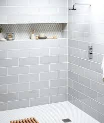 long subway tile grey subway tiles tile showers long nice built in shelf mist subway long subway tile
