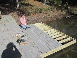 step 3 how do i attach inside dock hardware and decking to my wood floating build floating