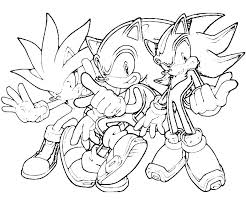 Coloring Download Shadow Sonic Coloring Pages Characters Coloring