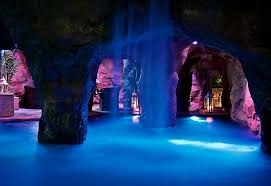 home indoor pool with bar. Stunning Indoor Pool With Waterfalls And Swim-through Grotto That Leads To A Swim- Home Bar D