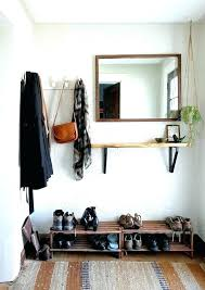Wall Coat Rack With Mirror Cool Wall Mounted Coat Rack With Shelf And Mirror Wall Mirrors Wall