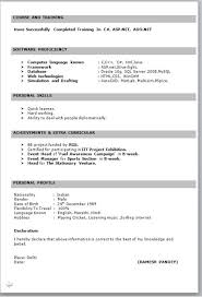 Resume Formate Sample Resume Format For Fresh Graduates One Page