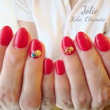 夏海リゾート女子会ハンド Jolieのネイルデザインno3340098