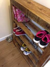diy pallet shoe rack. Pallet Wood Shoe Rack Ideas Recycled Upcycled Diy