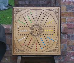 Wooden Aggravation Board Game Pattern New design Irk game board plays like Aggravation game sign d by 21