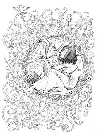 Art Adult Coloring Books Art Nouveau