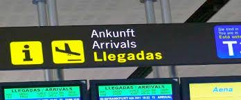 Znalezione obrazy dla zapytania malaga airport signage