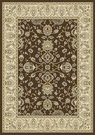 details about brown oriental fl area rug 8x11 persian border carpet actual 7 8 x 10 4