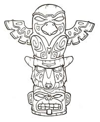 Totem Pole Animal Coloring Pages Unique 11 Best Native American Art