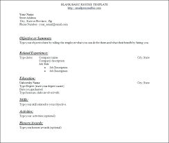 Basic Resume Template Free Download Beginners Resume Template Basic