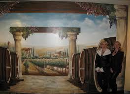 italian vineyard mural the venetian palazzo las vegas