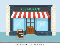 restaurant exterior drawing. Unique Drawing Facade Of Restaurant Vector Flat Design For Restaurant Exterior Drawing O