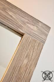 bathroom makeover diy barn wood mirror frame