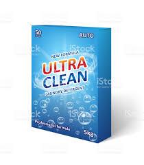 Detergent Powder Packaging Design Psd Washing Powder Box Clipart