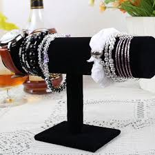 Black Velvet Jewelry Display Stands High Quality Black Velvet Jewelry Stand Bracelet Chain Watch T Bar 73