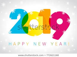 2019 Happy New Year Card Design Stock Vector (Royalty Free ...