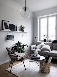 Monochrome Living Room Decorating Minimalist Monochrome Corner Living Room With Small Wall Shelf For