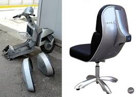 recycled vespa office chairs. vespa recycled office chairs f