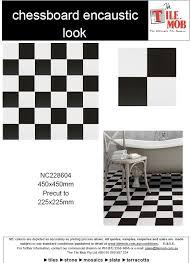 chessboard encaustic look tile